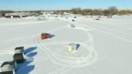 Wisconsin Ice Fishing Village on Lake Winnebago, Sturgeon Season video