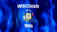Wisconsin State Flag Animation video
