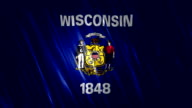 Wisconsin State Loopable Flag video