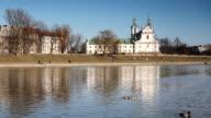 Wisla river in Krakow video