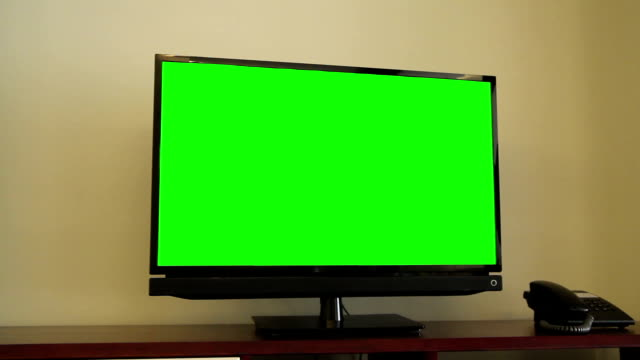 TV with a green screen video