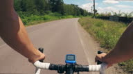 POV with a road bicycle. video