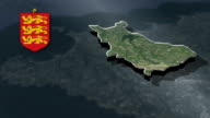with Coat Of Arms Animation Map video