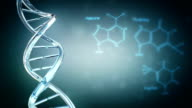 DNA with copy space. Loopable. video