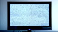 TV with static. video