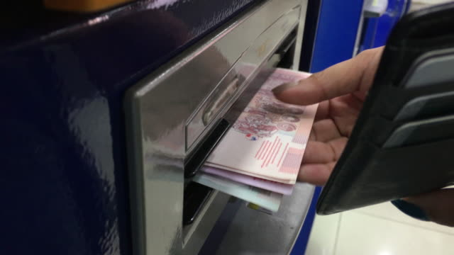 Withdraw money in ATM Automated tellers video