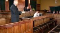 Witness in Court taking an oath - Crane Shot (USA) video