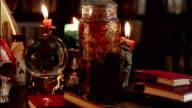 Wizards Study Desk Panning Shot (HD) video