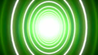 Wobbling tunnel circle background green video