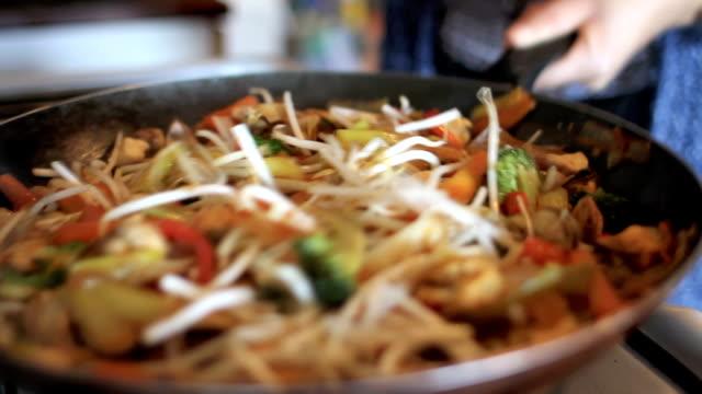 Wok Cooking Vegetables video