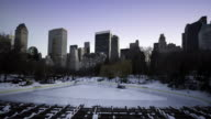 HD 1080 - Wollman Rink NYC  Day to Night video