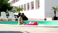Woman and Children at Pool video