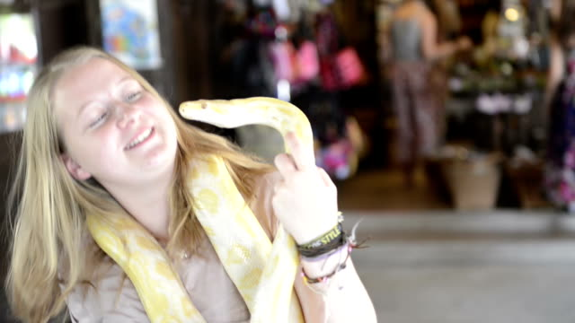 Woman and snake video