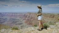 Woman at Grand Canyon Rim video