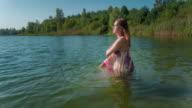Woman at lake video