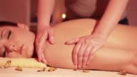 Woman at massage video