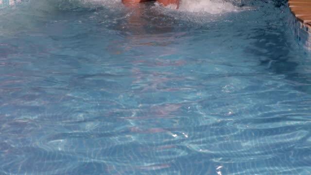 Woman at pool video