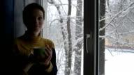Woman at Winter Window video