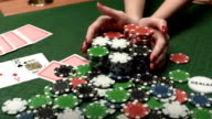 HD: Woman Bet All Chips In Poker Game video