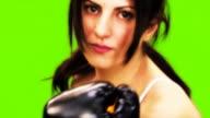 woman boxer video