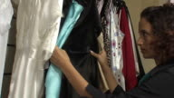 Woman chooses negligee in the shop video