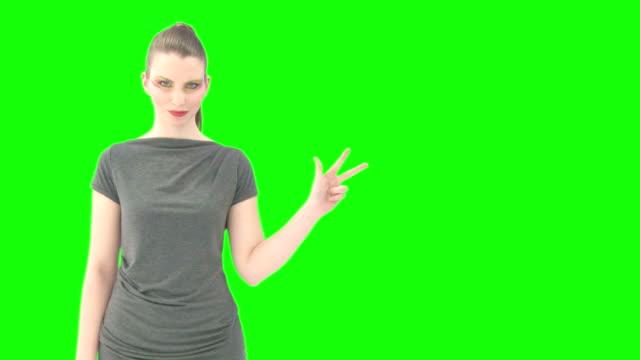 Woman counts to three greenkey video