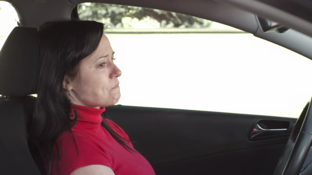 HD: Woman Crying In A Car video