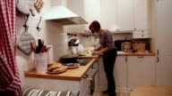 Woman Cut Crab Sticks in the Kitchen video