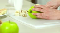Woman Cutting An Apple video