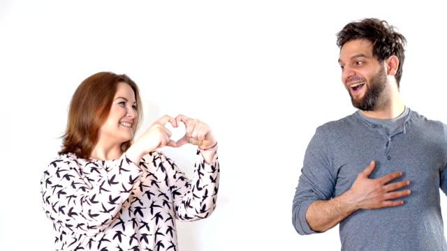 Woman declaring love to her boyfriend video
