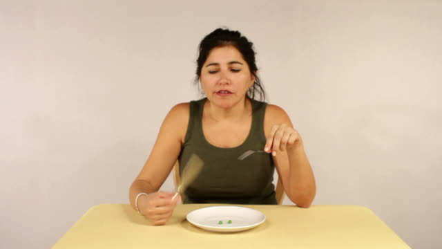 Woman Diets By Eating Peas video