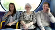Woman Disturbed By Young Passengers On Bus Journey video