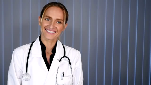 Woman doctor smiling video