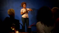 Woman doing stand up video