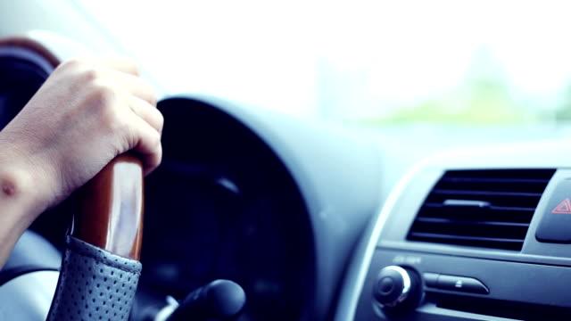 woman driving car video