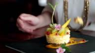 Woman eating cheesecake video
