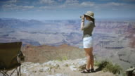 Woman Enjoying Grand Canyon video