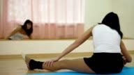 woman exercising in dance studio video