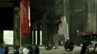 Woman Exercising With Dumbbells video