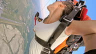 POV Woman experiencing skydive for first time video