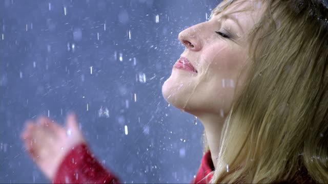 Woman Exposing Herself To The Rain video