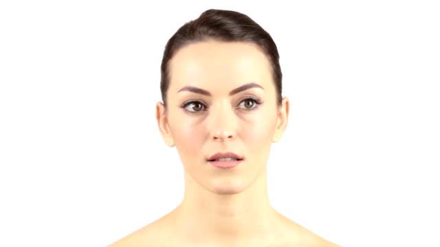 Woman expressing shock video