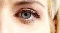 Woman eye video