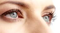 Woman eyes video