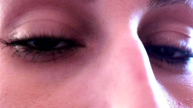 Woman face close up video