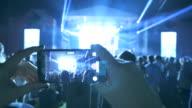 Woman fan at performance. video