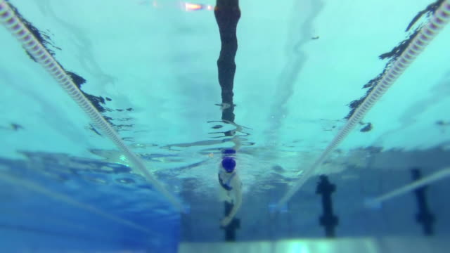 HD - Woman floats in swimming pool video