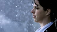Woman Get Drenched In The Rain (Super Slow Motion) video