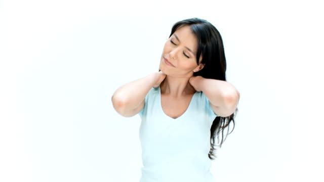 Woman getting a massage video