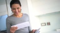Woman getting the mail video